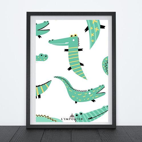 Affiche crocodile dessin