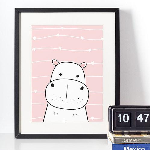 Affiche illustration rhinocéros