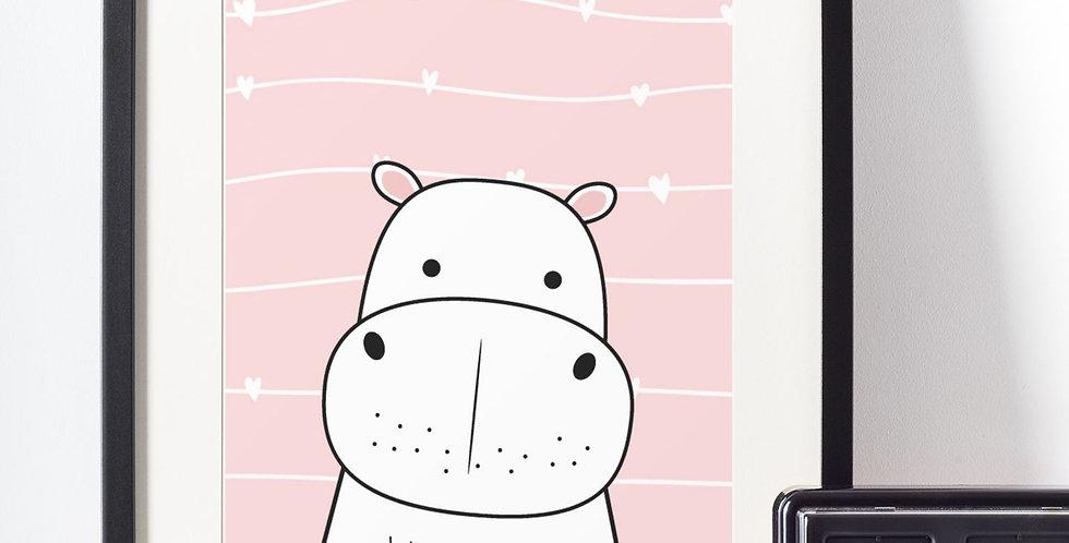 Affiche illustration rhinocéros 422