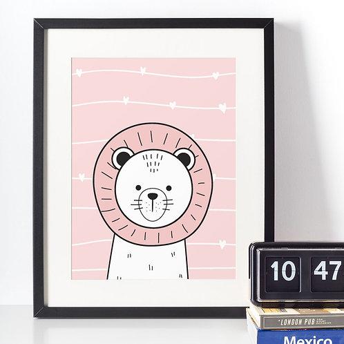 Affiche illustration lion