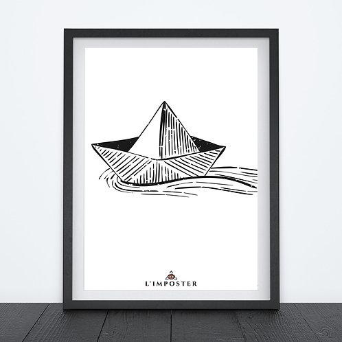 Affiche bateau en papier