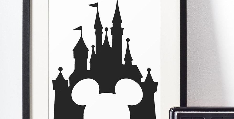 Affiche Château Disney avec Mickey 458