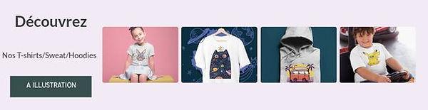 t-shirt pull hoodies pour enfant a dessn illustration