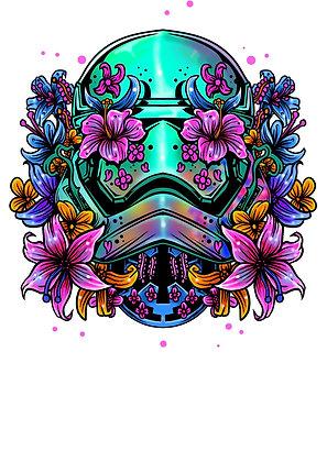 Tatouages éphémères tête de mort fleuris