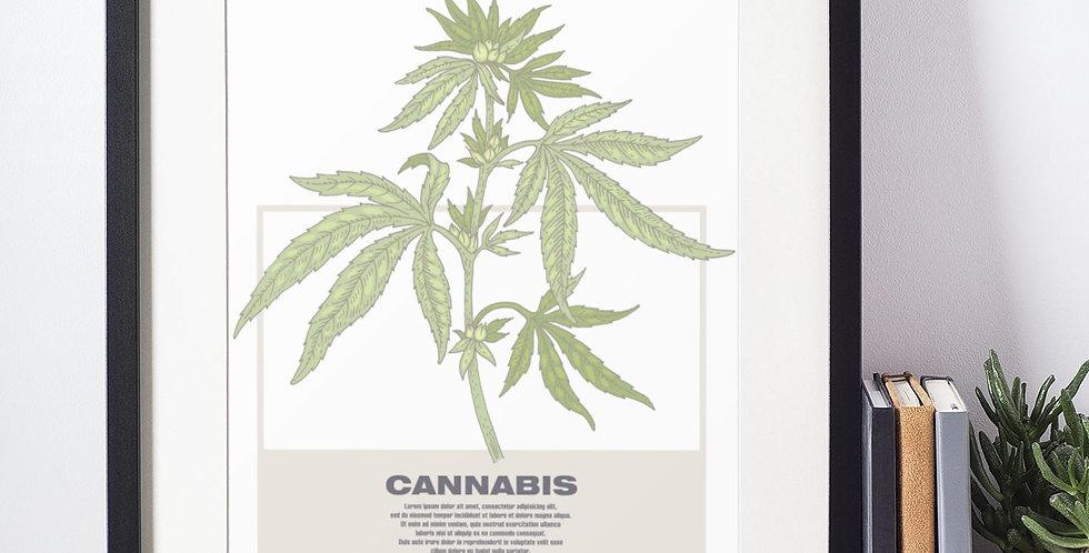 Affiche illustration cannabis 394