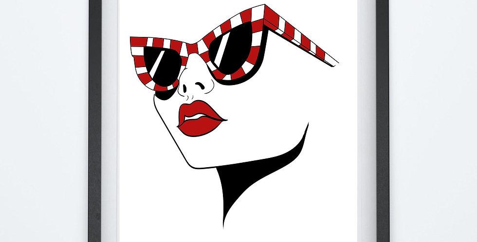 Affiche Femme à lunette 129