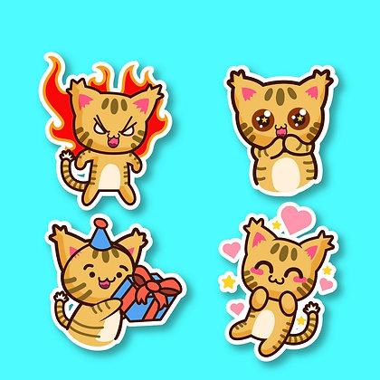 Sticker personnalisés chat funny