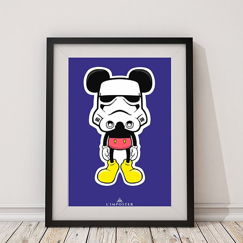 Affiche Mouse trooper Star Wars mickey