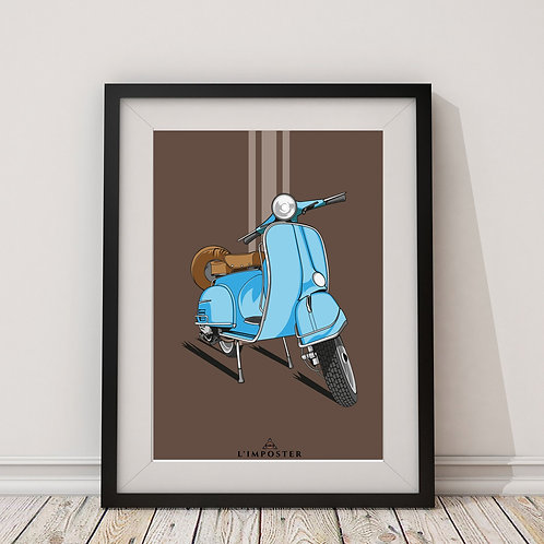 Affiche Scooter vintage 121
