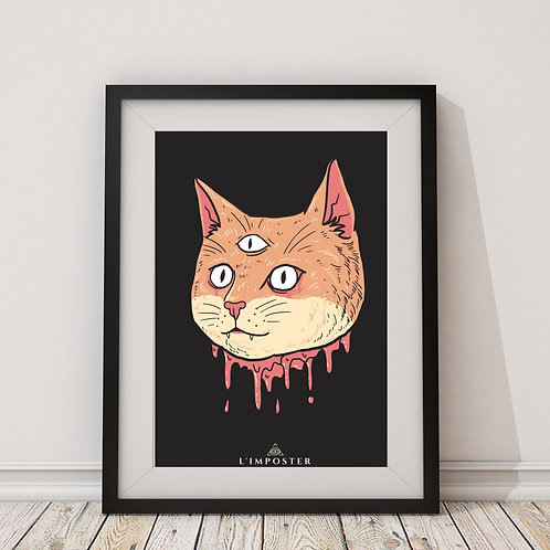 Affiche Chat funny