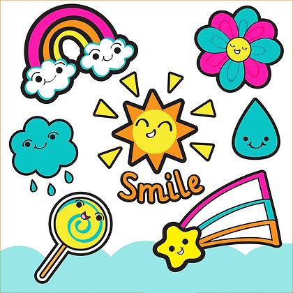 Stickers Personnalisés Smile funny