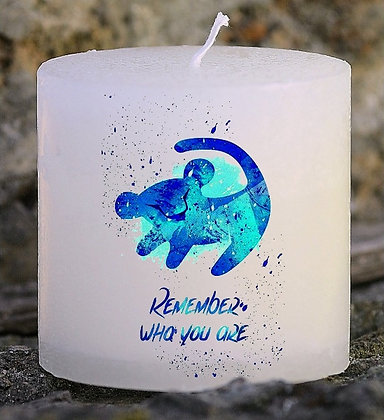 Bougie Personnalisée Nany Candle Lion remenber who you are