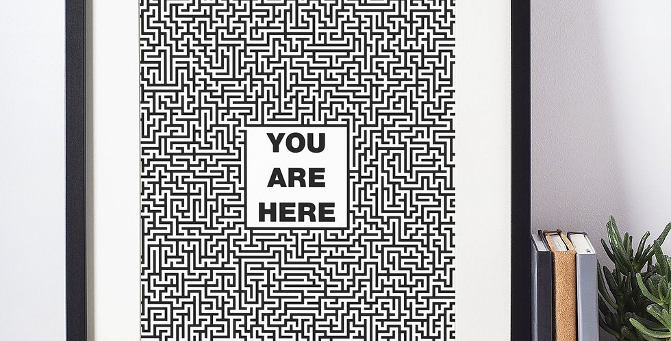 Affiche citation you are here 384
