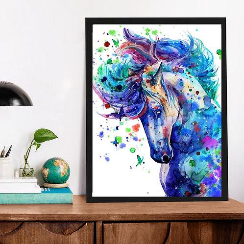 Affiche Cheval watercolor