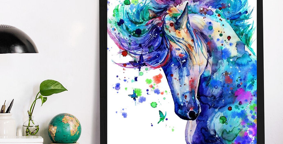 Affiche Cheval watercolor 524