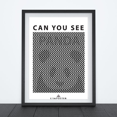 Affiche Panda Can you see