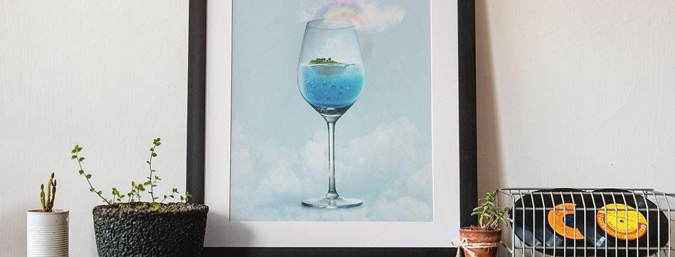 Affiche illustration verre fumant 408
