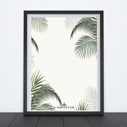 Affiche feuilles exotiques