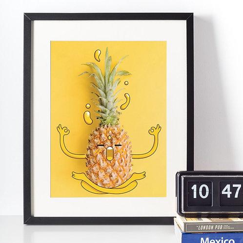 Affiche illustration ananas