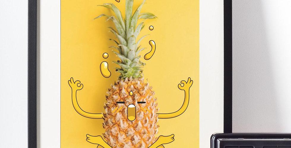Affiche illustration ananas 425