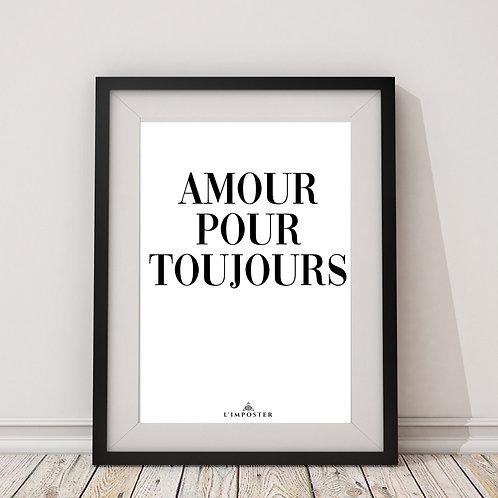 Affiche citation amour pour toujours