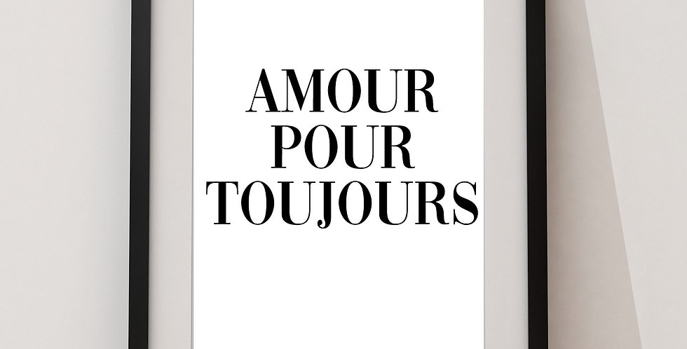 Affiche citation amour pour toujours 220