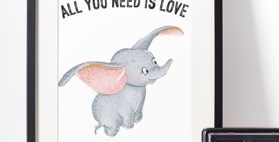 Affiche citation love Dumbo 441