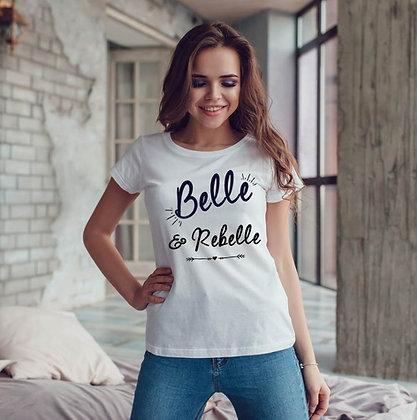 T-shirt Belle et rebelle moche et remoche citation