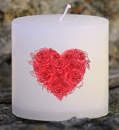 Bougie Personnalisée Nany Candle Coeur