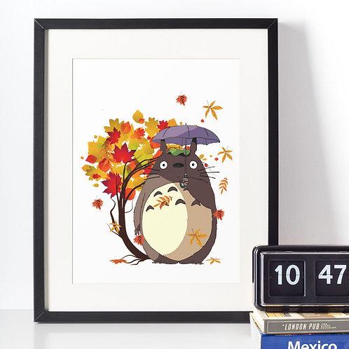 Affiche Dessin Totoro
