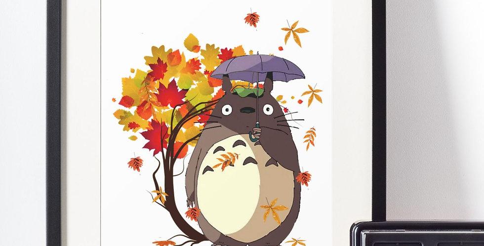 Affiche Dessin Totoro 481