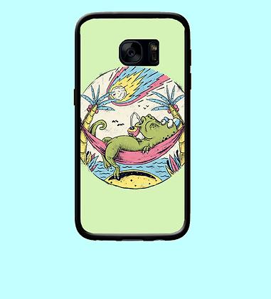 Coque mobile Samsung illustration crocodile à la plage 312