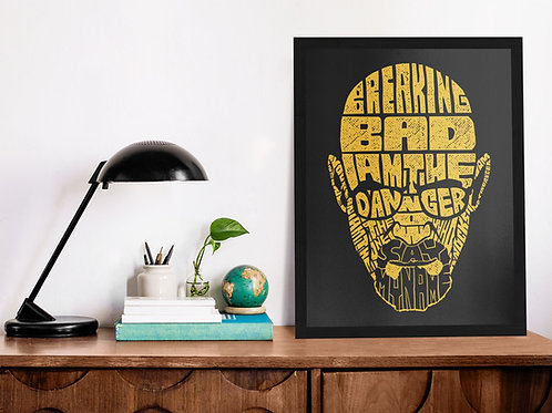 Affiche Illustration breaking bad