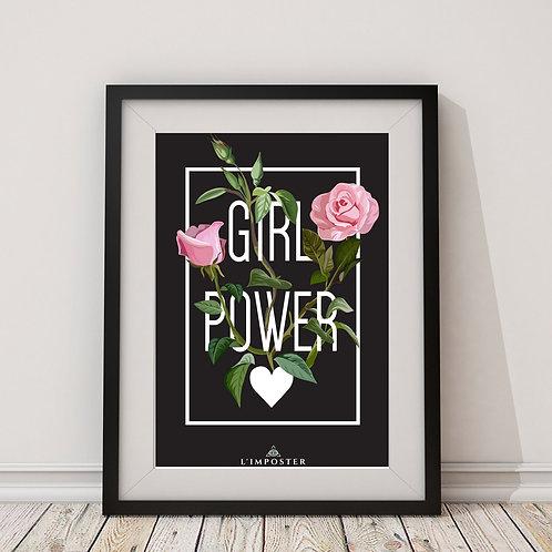 Affiche Citation girls power rose 142