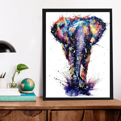 Affiche Éléphant Watercolor