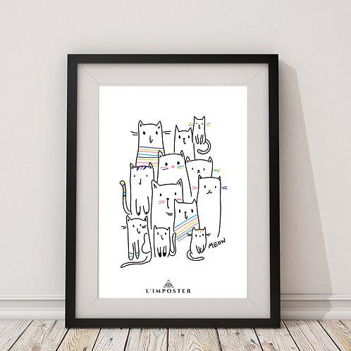 Affiche Petits Chats dessin
