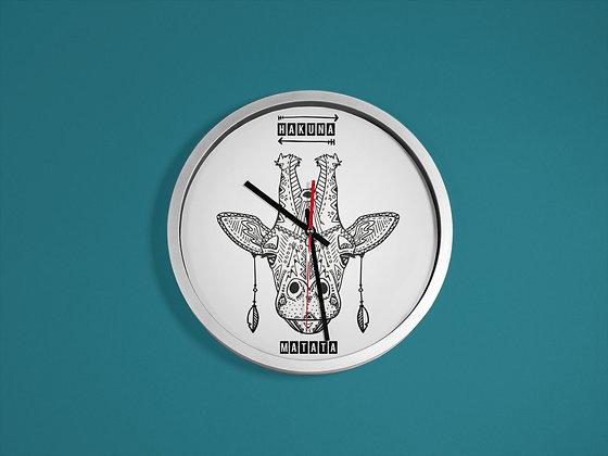 Horloge imprimé Girafe hakuna matata