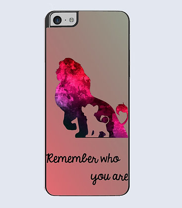 Coque Mobile iphone Roi lion remenber who you are watercolor 665