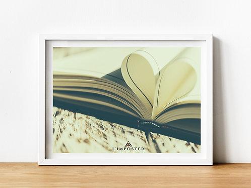 Affiche Livre en coeur
