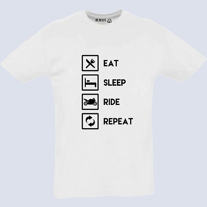 T-Shirt Unisexe eat sleep ride