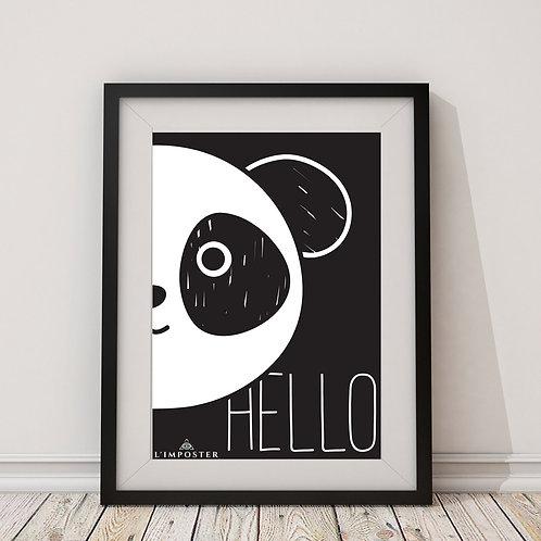 Affiche Panda hello
