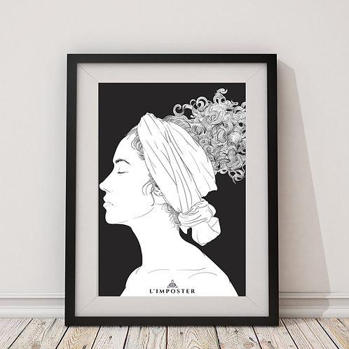 Affiche Femme noir et blanc