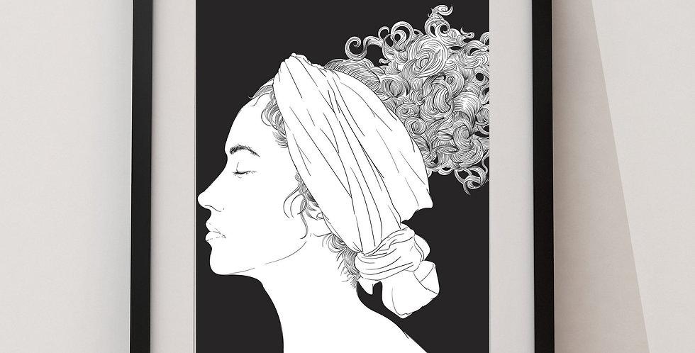 Affiche Femme noir et blanc 33