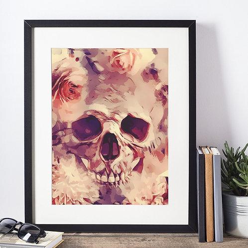Affiche illustration tête de mort