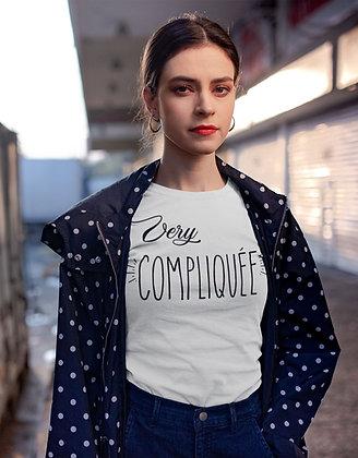 T-shirt very compliquée citation tshirt avec phrase drole