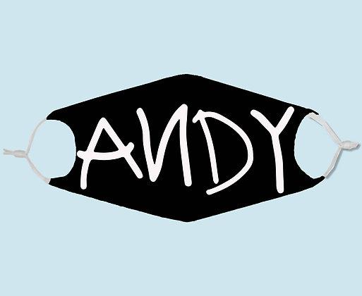 Masque de protection en tissu motif Andy