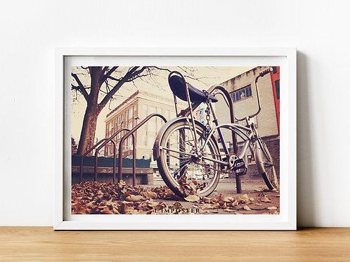 Affiche photo vélo vintage