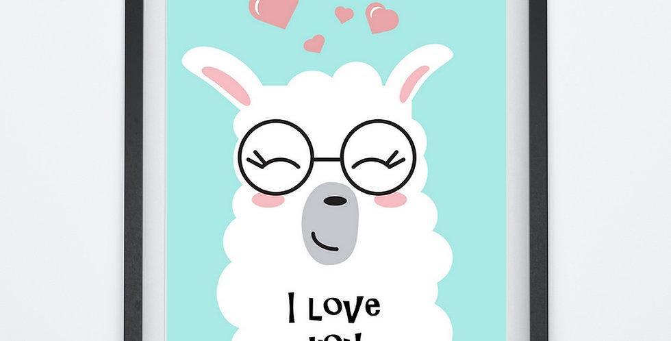Affiche citation love lama coeur 237