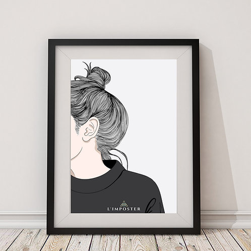 Affiche Femme crayon