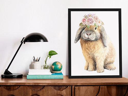 Affiche Illustration lapin